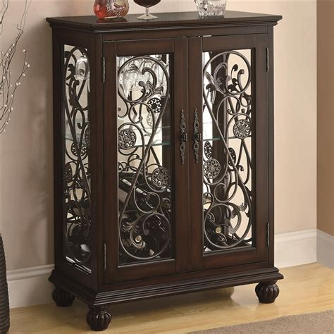 metal wine rack cabinet wine rack cabinet with metal scroll accents by coaster