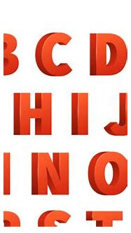 Red 3d letters vector alphabet, lettering By Microvector ...