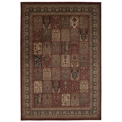 overstock area rugs nourison overstock ararat burgundy 7 ft 10 in x 10 ft 6