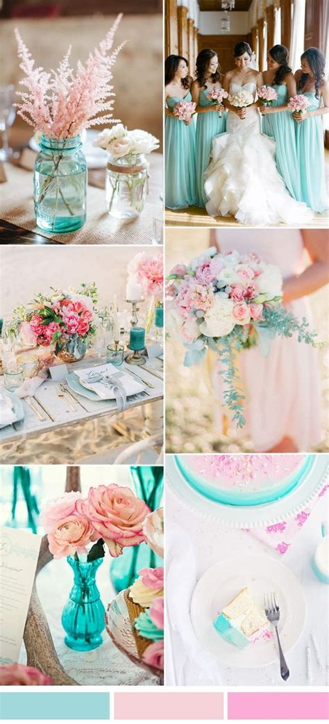 Color Schemes Aqua by Summer Wedding Color Ideas 2017 From Pantone