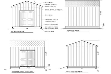 bryant 12 x 24 gable shed plans