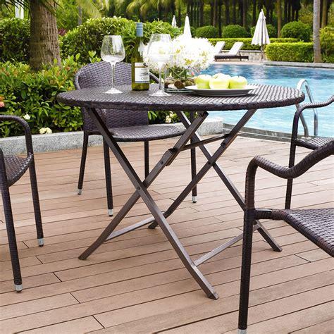 crosley palm harbor outdoor wicker folding table patio