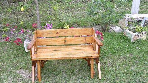 banca de jardin  mesa picnic en color cedro mexico youtube