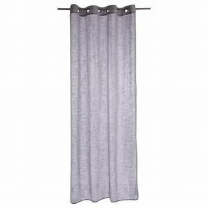 Rideau Voilage Gris : rideau voilage zo 140x240cm gris clair ~ Preciouscoupons.com Idées de Décoration