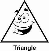 Triangle Cartoon Face Clip Coloring Math Triangles Shapes Geometry Pages Faces Printable Colorear Graphics Para Silly Clipart Crafts Cartoons Con sketch template
