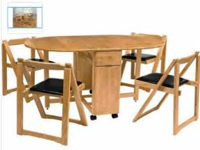 Folding Dining Room Table and Chairs