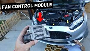 Radiator Fan Control Module Controller Replacement On Ford Fiesta Mk7 St