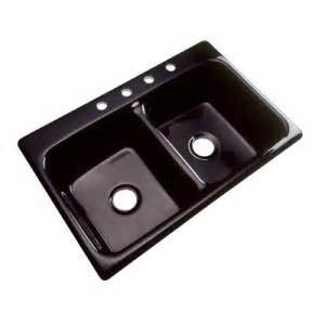 thermocast newport high gloss black cast acrylic bowl kitchen sink 4
