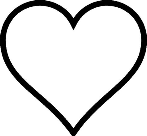 heart coloring pages plain hearts colouring pages