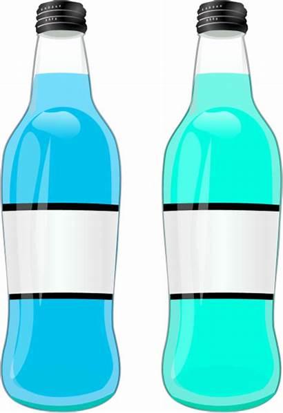 Clipart Bottle Water Bottles Cliparts Clip Vector