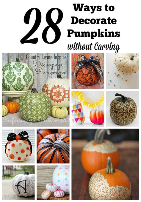 ways to decorate pumpkins 28 ways to decorate pumpkins without carving