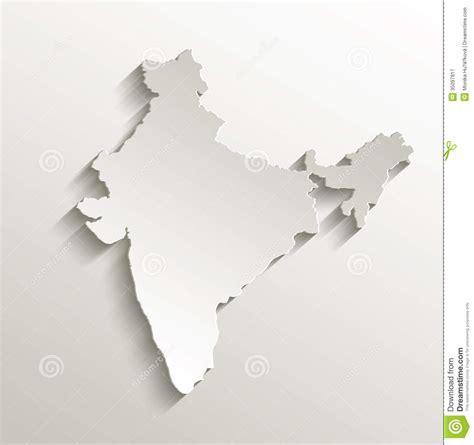 india map card paper  natural stock vector
