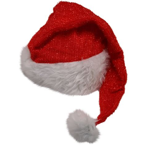 red glitter oversized santa hat