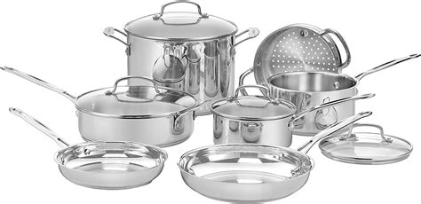 cuisinart   chefs classic stainless  piece