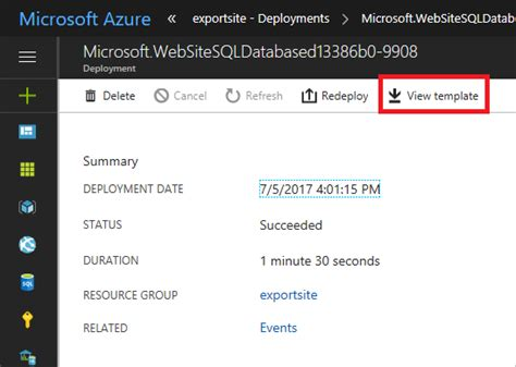 exporter un mod 232 le azure resource manager microsoft docs