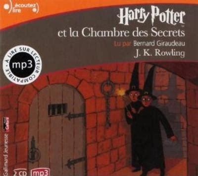 harry potter la chambre des secrets harry potter et la chambre des secrets mp3 cd j k