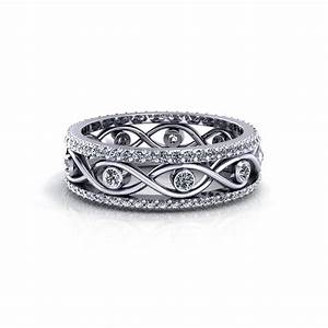 infinity engagement rings for women With infinity band wedding ring