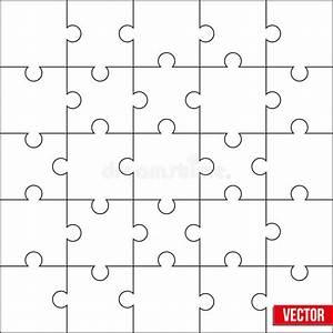Puzzle Zum Ausdrucken : sample of square puzzle blank template or cutting ~ Lizthompson.info Haus und Dekorationen