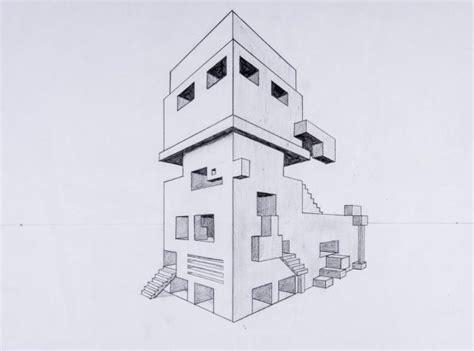 Moderne Häuser Zeichnen by Perspektive Mit 2 Fluchtpunkten Futuristisches Geb 228 Ude