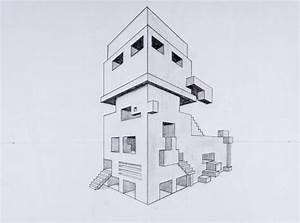 Architektur Haus Zeichnen : perspektive mit 2 fluchtpunkten futuristisches geb ude unterricht perspektive pinterest ~ Markanthonyermac.com Haus und Dekorationen