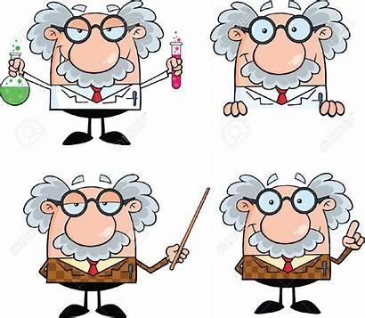 Professor Cartoon Scientist Funny Clipart Characters College