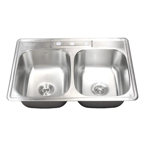 best gauge for stainless steel sink 33 inch stainless steel top mount drop in 50 50 double