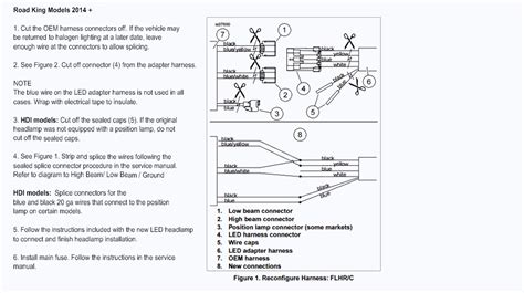 Harley Davidson Fog Light Wiring Diagram by Wire Harness Adapter For Harley Led Headlights Part 69200897