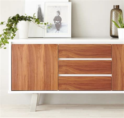 White And Walnut Sideboard by Sale Danetti Lifestyle