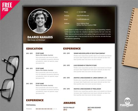 Resume Creator Creative by Free Creative Resume Template Psd Psddaddy
