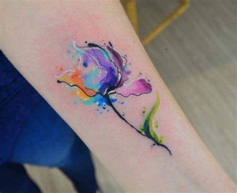 javi wolf watercolor flower watercolor tattoo tattoos
