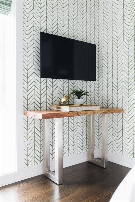 edge wall shelf  tv transitional bedroom