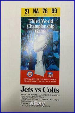 1969 Super Bowl III Program Baltimore Colts vs. New York ...