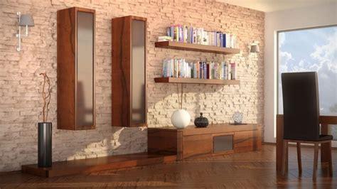 innen steinwand  elegante ideen zur gestaltung deko