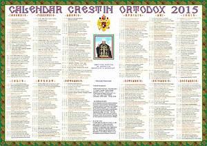 Calendar ortodox - sarbatori ortodoxe pe anul