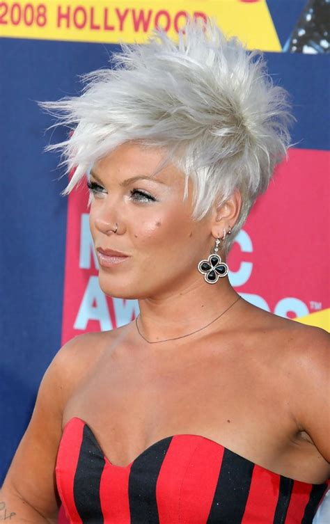 Pink Spiked Hair Pink Short Hairstyles Looks Stylebistro