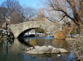 Gapstow Bridge Central Park Winter