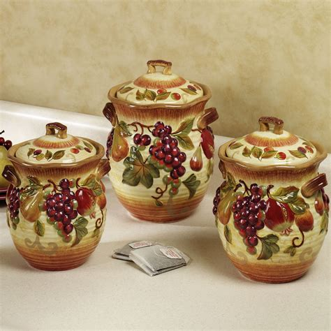 colorful kitchen canisters canisters amusing tuscan kitchen canister sets canister 2341