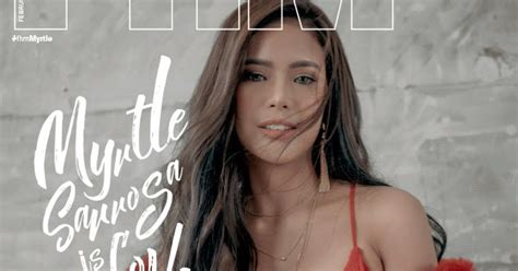 myrtle sarrosa cover myrtle sarrosa on the cover of fhm s february 2018 issue
