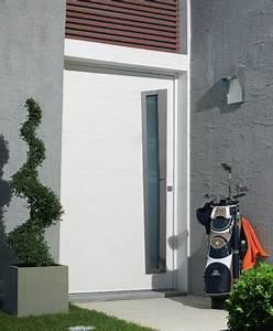 porte de garage avec porte d interieur vitree blanche With porte de garage avec porte d intérieur blanche