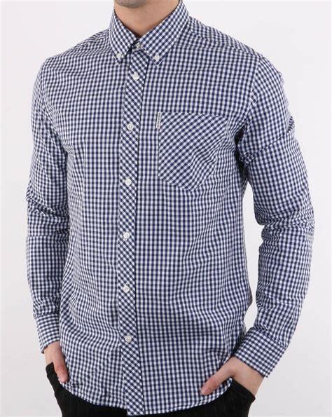 Ben Shirt ben sherman sleeve gingham shirt blue 80s