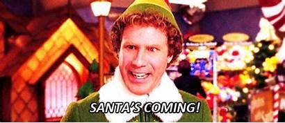 Coming Santas Santa Elf Gifs Christmas Quotes