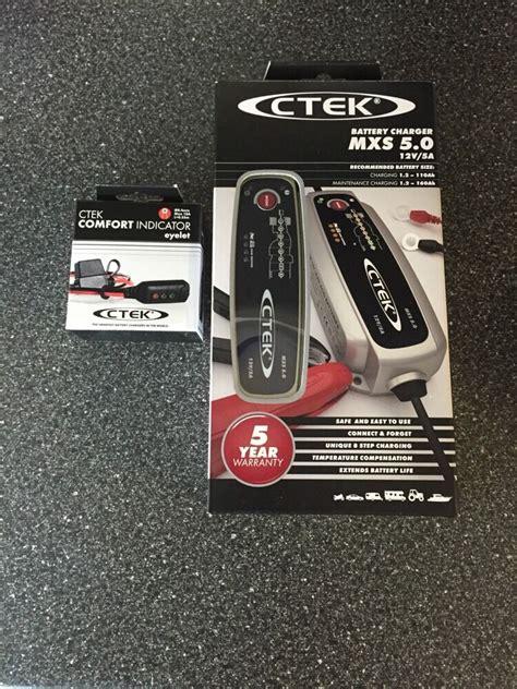ctek ladegerät mxs 5 0 ctek multi mxs 5 0 12v battery charger free ctek traffic status lead offer ebay