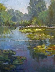 Lily Pond Painting