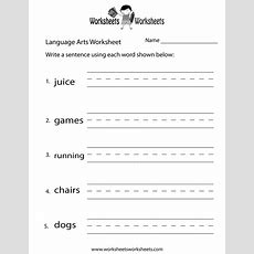 English Language Arts Worksheet  Free Printable Educational Worksheet  Spelling Language