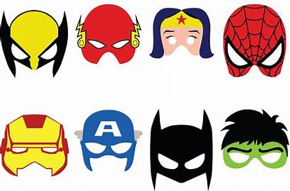 Superhero Mask Mesa Template Infantiles Clipart Hero