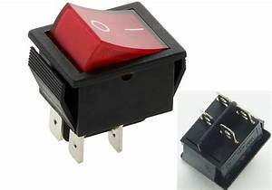 Rocker Switch 16a 240v  20a 125v Red On