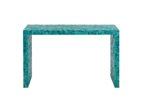 turquoise table l turquoise console table by kam tin for at 1stdibs