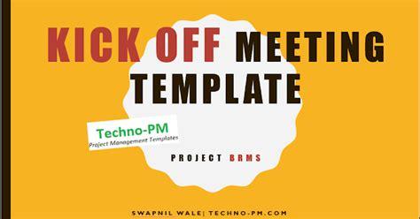 project kickoff meeting template  kickoff