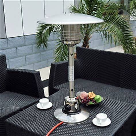 outdoor heat l new table top gas patio heater stainless steel outdoor