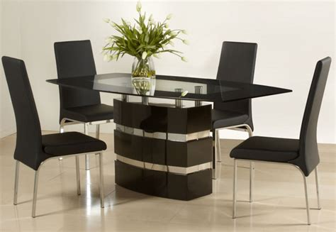 graceful wooden and glass top designer table and chairs